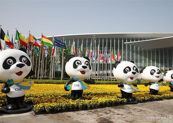 People Prepare for Second CIIE in Shanghai